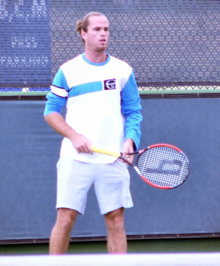 Saturday - Christophe Rochus Practices with Malisse