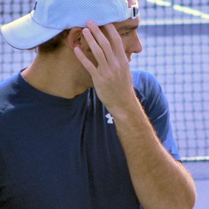 Friday - Gasquet Practices With Ginepri