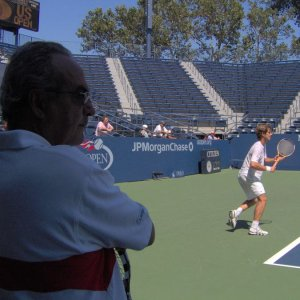 Richard Gasquet and Eric Deblicker