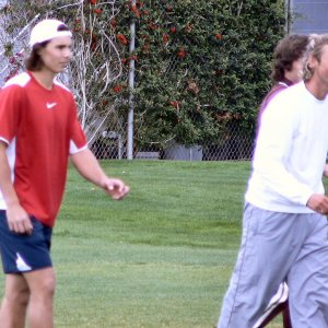 Saturday - Ferrero, Nadal, and others play some early morning soccer!