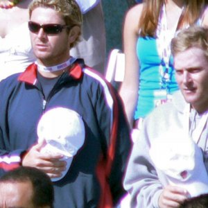 Friday - Mardy Fish & John Roddick During Opening Ceremony